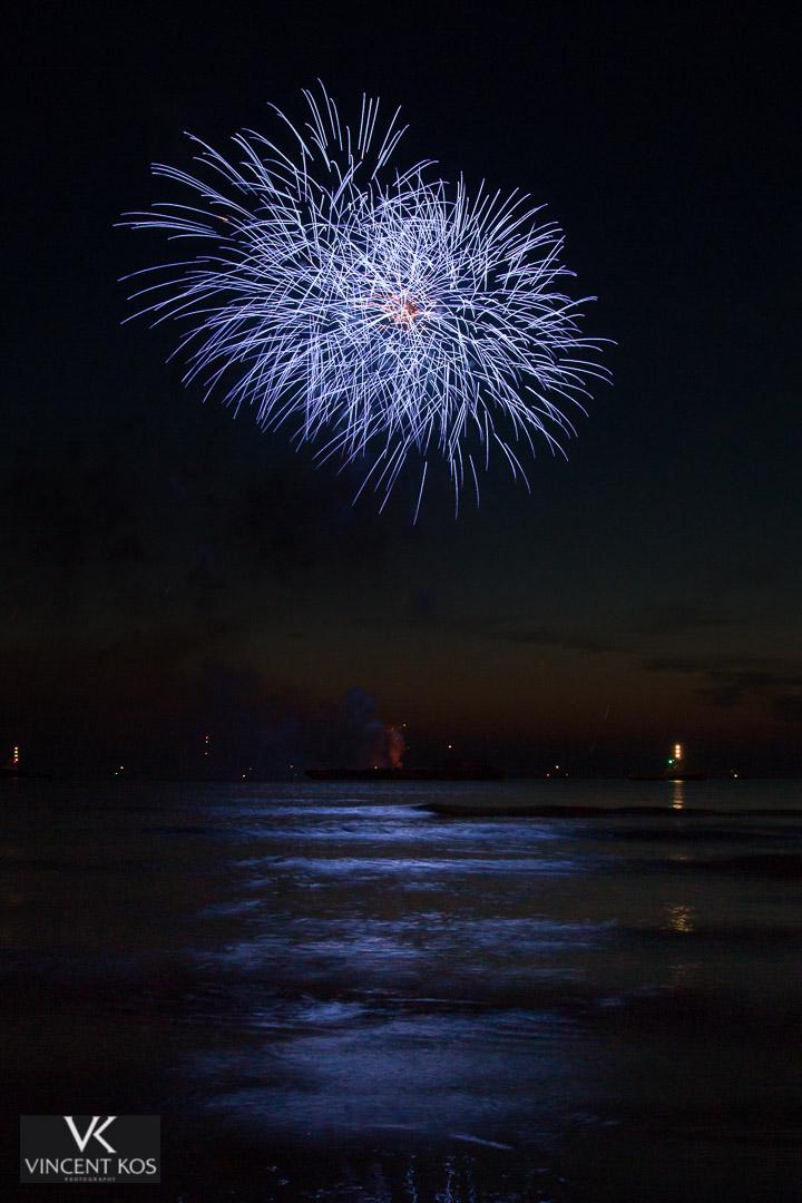 Fotoreportage tijdens Vuurwerkfestival Scheveningen